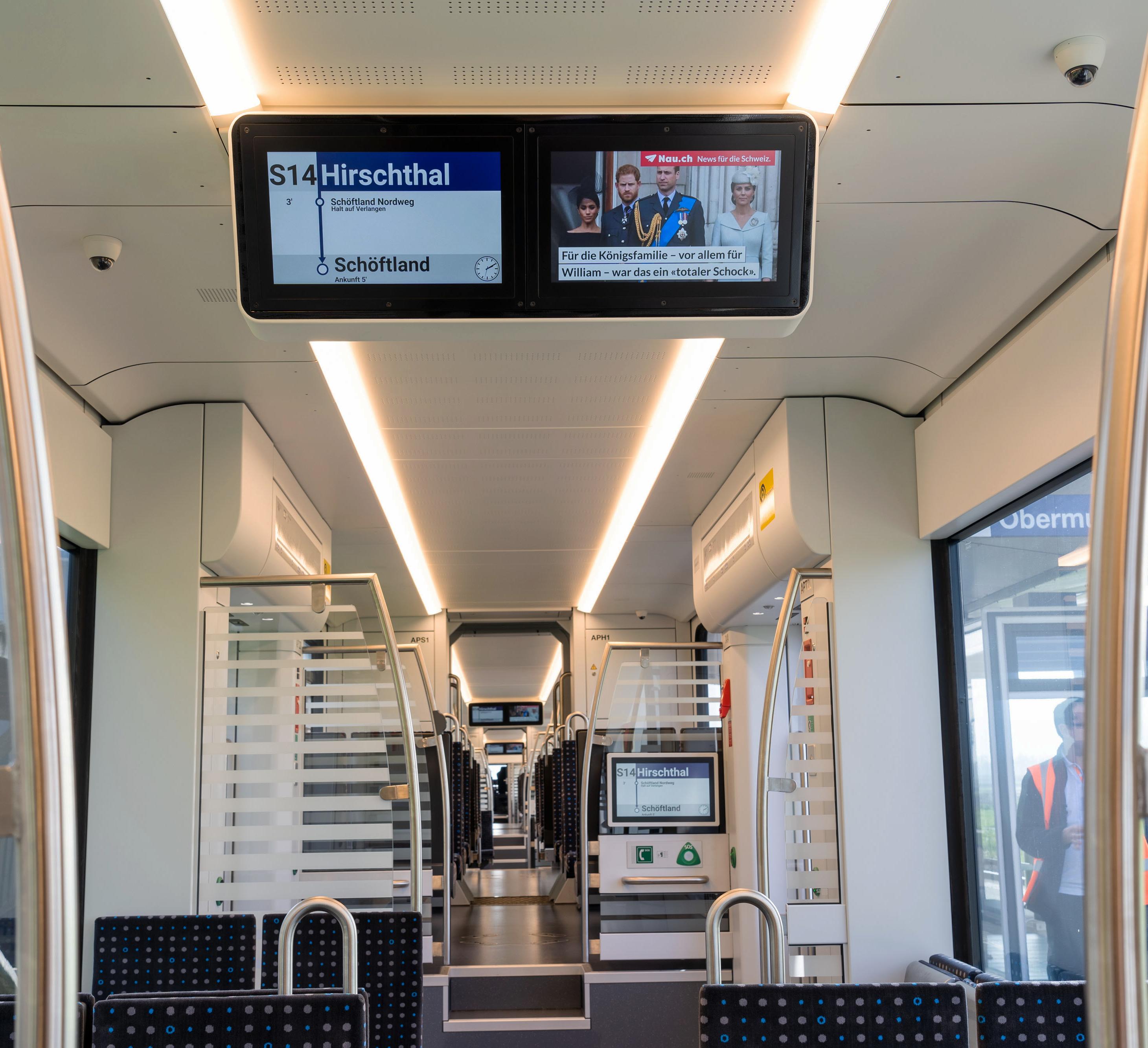 Fahrgastinformation im Zug